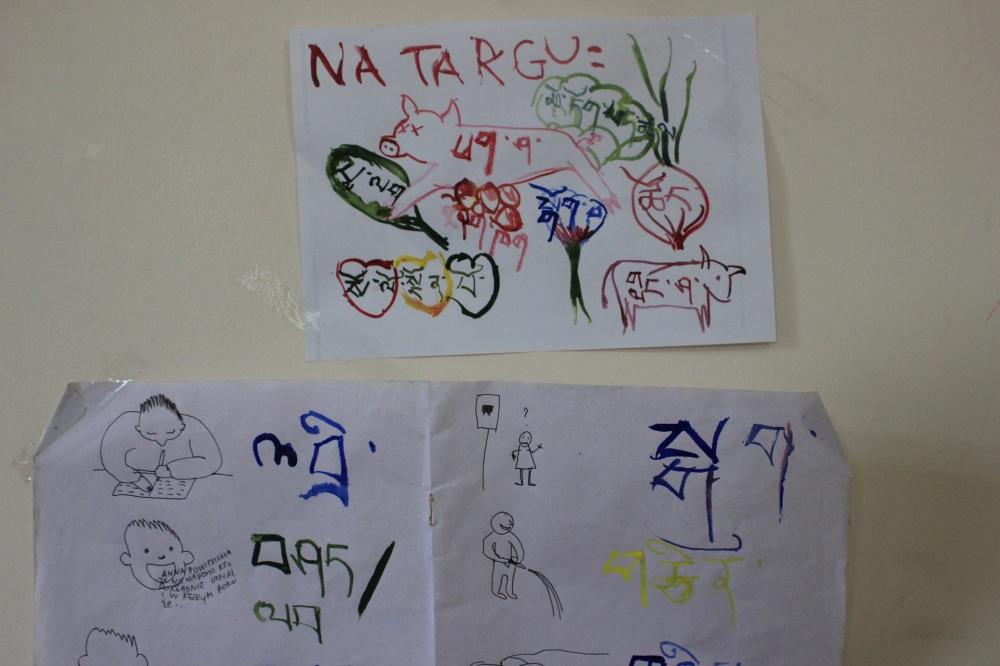 tybetański_nauka_języków_pomoce_naukowe_karteczki