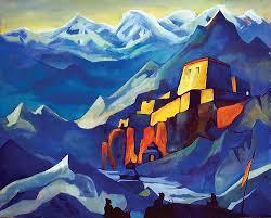 Nicholas Roerich to jedyny autor, którego znałam przed wizytą w muzeum ale że go ubóstwiam to byłam zachwycona tym, że mogę zobaczyć na żywo jego obrazy z Himalajów. Obczajcie je bo są super.