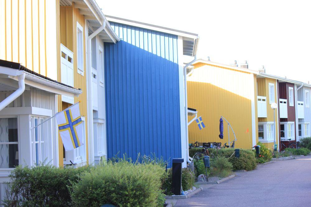 szwecja_sverige_fińska_flaga_szwedzka_domy_w_szwecji