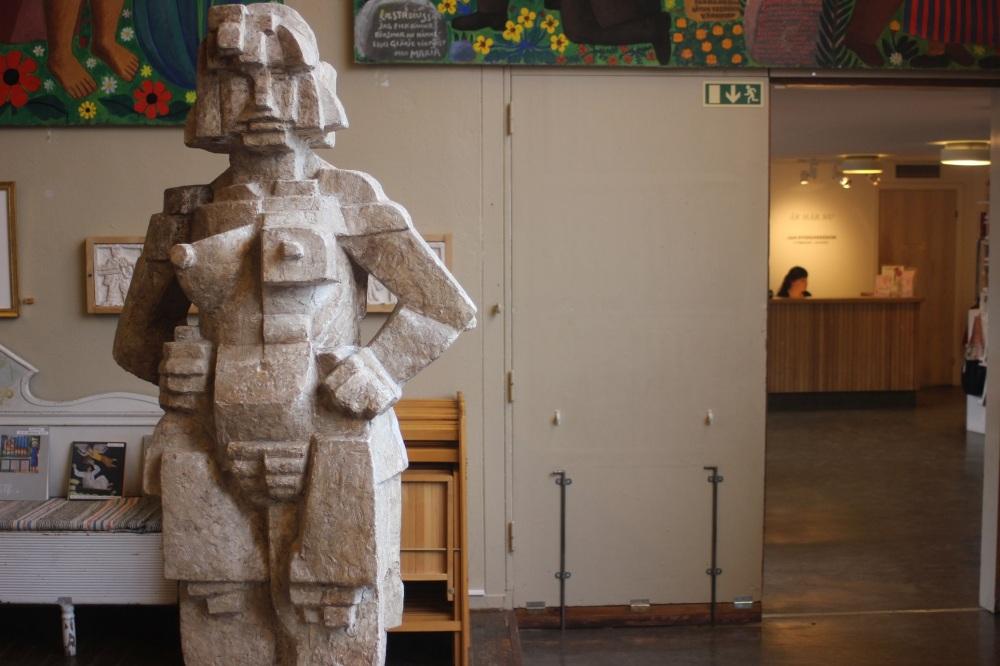 Cubism Cubic Girl bror hjorth uppsala rzeźbiarz sławny szwedzki Kubistisk flicka