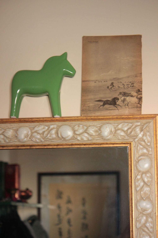 zielony_koń_konie_wystrój_wnętrz_motyw_konia_szwezdki_koń_z_dalarne