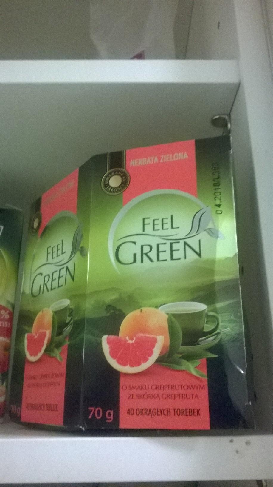 feel green zielona herbata biedronka grapeifruit