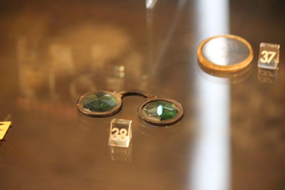 okulary z kryształu stare okulary zabytkowe średniowieczne wheel clan spectacles crystal glasses from arcanum kryształowe okulary z arcanum krasnoludzkie