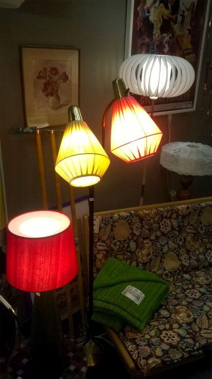 Lampy abażury lata '60 lata '70 szwedzki design