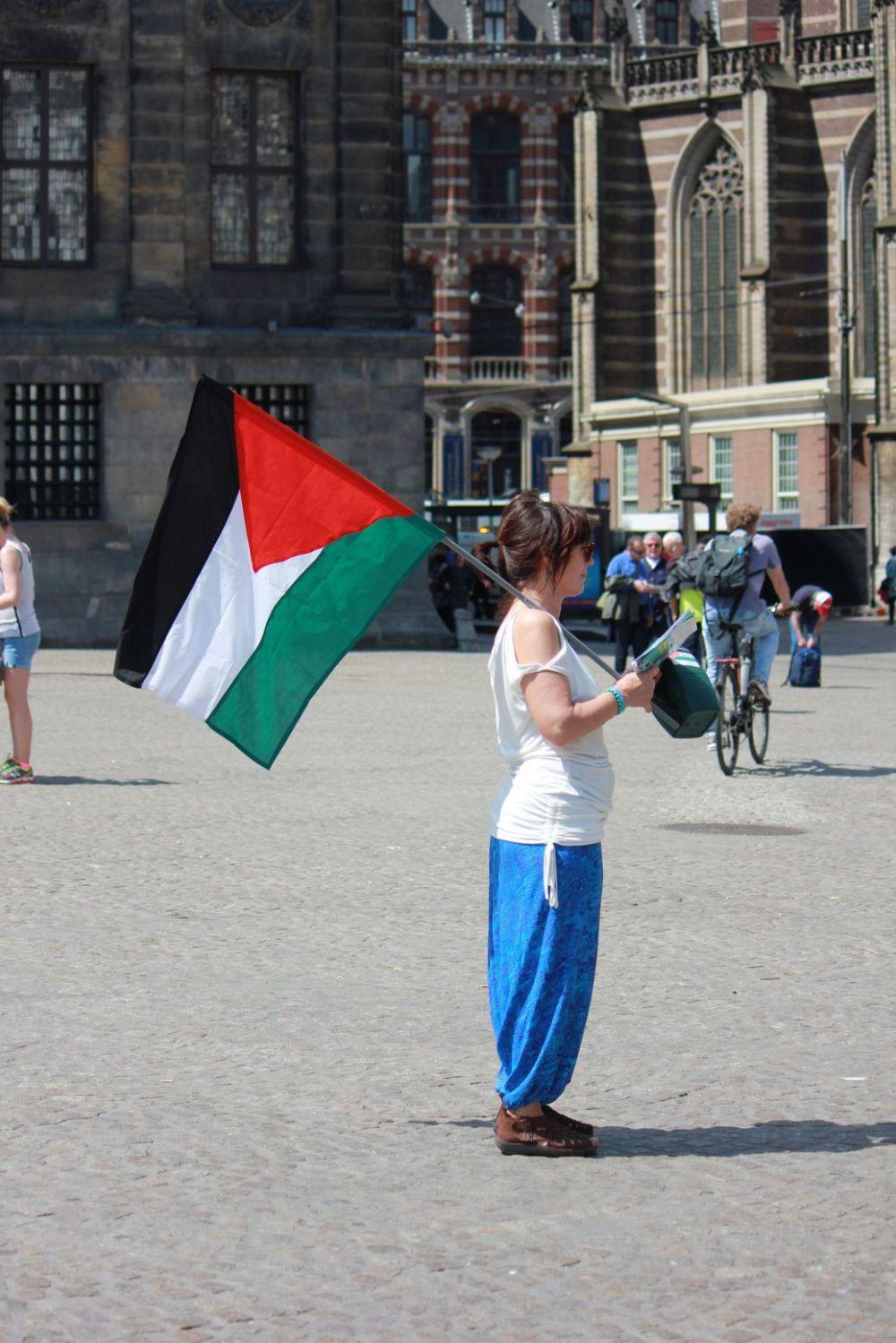 palestyna flaga amsterdam strefa gazy