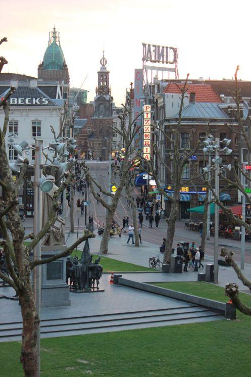 amsterdam rembrandtplejn centrum miasta starówka