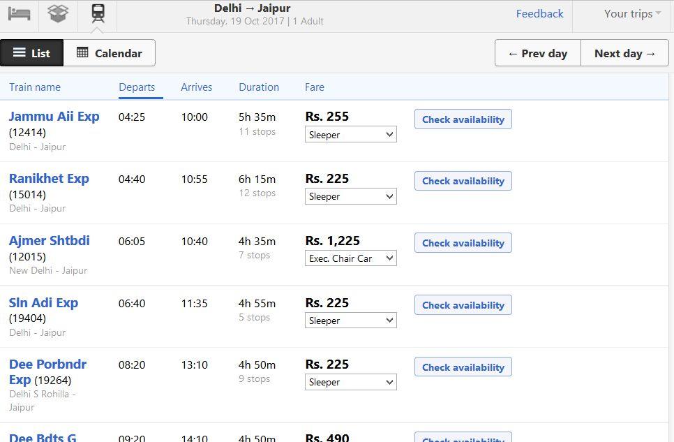 jak kupić bilet na pociąg w indiach sleeper klasy ceny