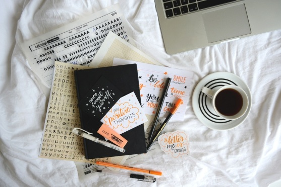 Planowanie placy freelancera bullet journal mood board
