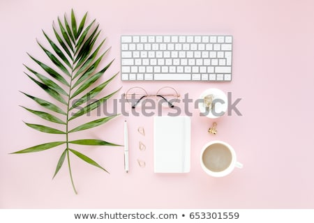 workspace-computer-palm-leaves-clipboard-450w-653301559.jpg